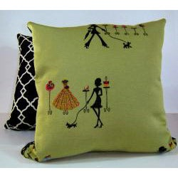 Shopaholic Sage Decorative Pillow
