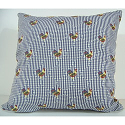 Henny Penny Blue Decorative Pillow