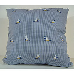 Ship Ahoy Blue Decorative Pillow