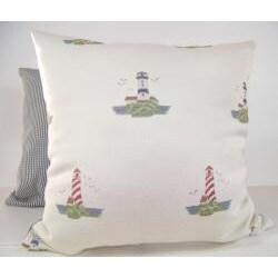 Land Ho Natural Decorative Pillow