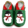 Snowman Soft Sole Leather Baby Shoes
