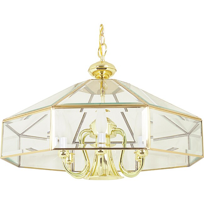 Polished Brass Six Light Pendant