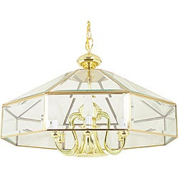 Polished Brass Six Light Pendant