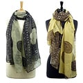 LA77 Flower and Paisley 68-inch Scarf