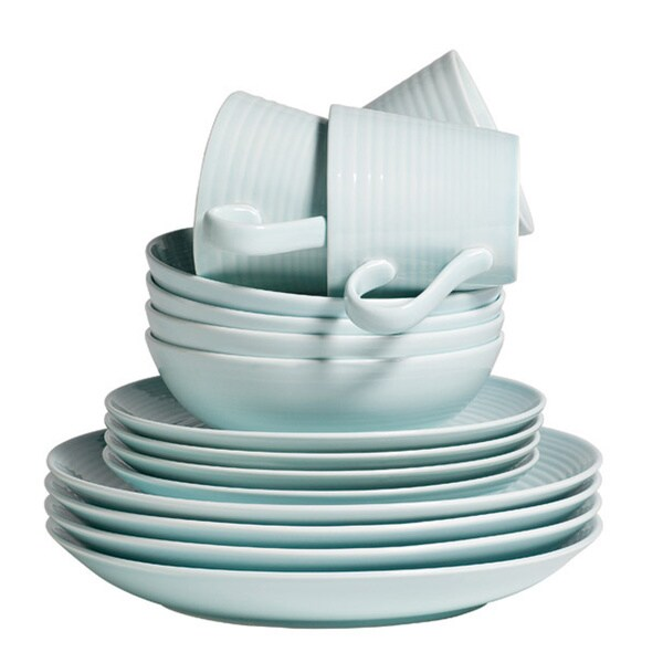 Gordon Ramsay by Royal Doulton Maze Blue 16-piece Dinnerware Set