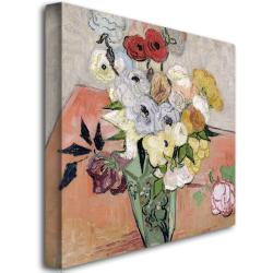 Vincent van Gogh, 'Roses and Anemones, 1890' Canvas Art