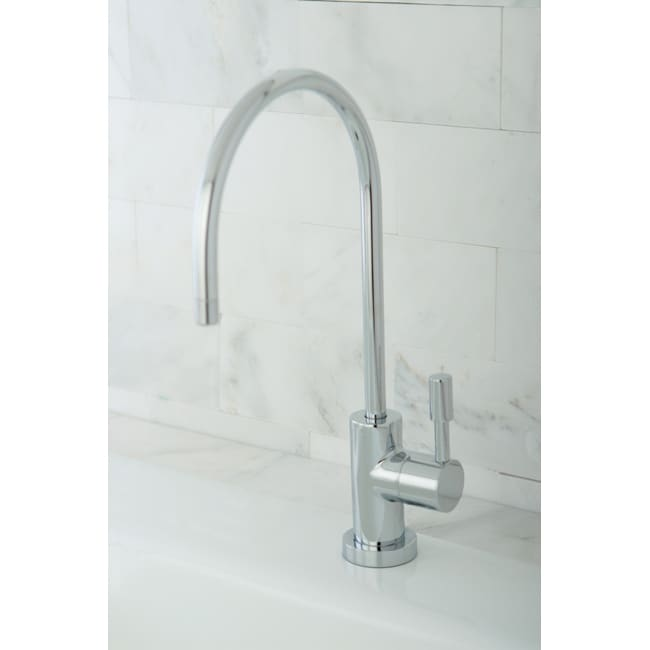 Contemporary Polished Chrome Single-handle Water Filter Faucet