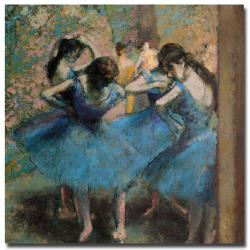 Edgar Degas, 'Dancers in Blue, 1890' Canvas Art