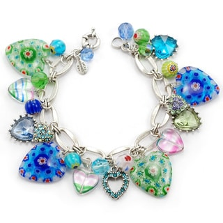 Sweet Romance 1950s Candy Hearts Blues Charm Bracelet