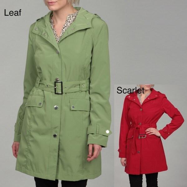 London Fog Women's Belted Hooded Coat FINAL SALE