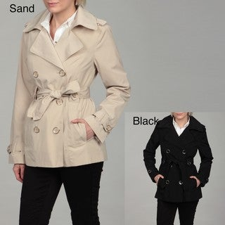 London Fog Women's Double-breasted Belted Coat FINAL SALE