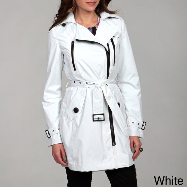 Miss Sixty Women's Asymmetrical Zip Trench Coat