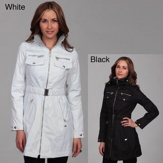 Miss Sixty Women's Zip-front Cinched Belted Coat FINAL SALE