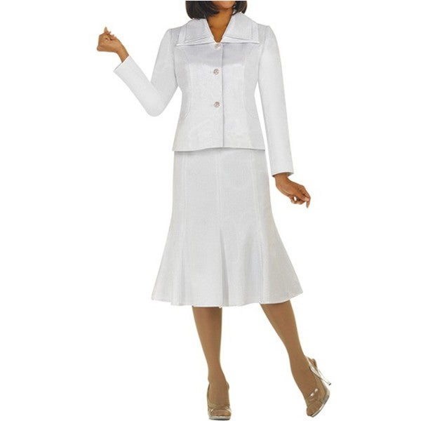 Divine Apparel Women's Novelty Fabric Skirt Suit