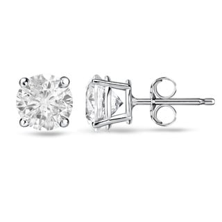 Auriya 14k White or Yellow Gold 1/2ct TDW Round Diamond Stud Earrings (E-F, I1)