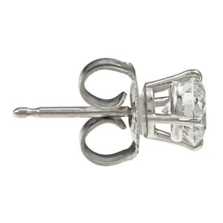 Auriya 14k Gold 1ct TDW Round Diamond Hearts and Arrows Stud Earrings (G, SI1-SI2)
