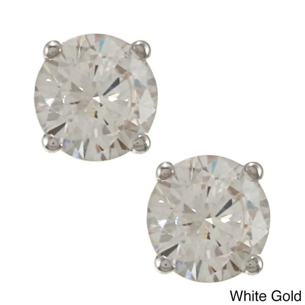 Auriya 14k Gold 1ct TDW Round Diamond Stud Earrings (J-K, SI1-SI2)
