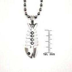 Bico Australia Silvertone 'The Fish' Necklace