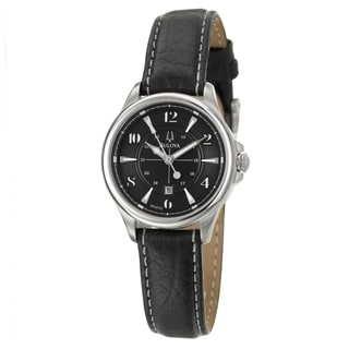 Bulova Stainless Steel Adventurer Leather Watch