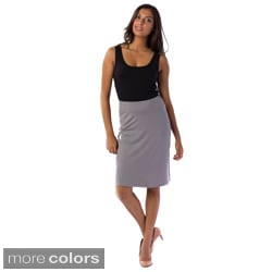 AtoZ Women's Fitted Skirt
