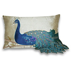 Thro by Marlo Lorenz Fancy Peacock 12x20-inch Rectangular Pillow