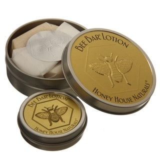 Large and Small Vanilla-scented Bee Bar All-natural Lotion Set
