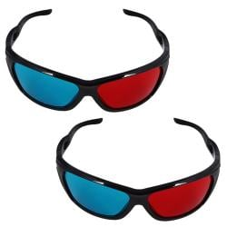 3D Eye Glasses with Frame (Pack of 2)