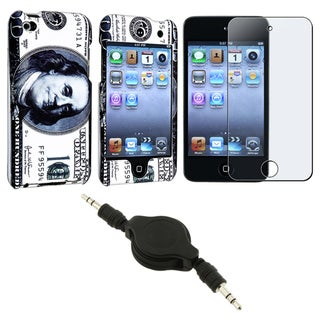 Dallor Case/ Screen Protector/ Audio Cable for Apple iPod Touch Gen4