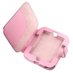 Pink Leather Case/ Screen Protector Barnes & Noble Nook 2nd Edition
