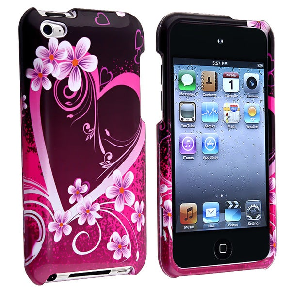 INSTEN Purple Heart iPod Case Cover Protector for Apple iPod Touch 4th Gen