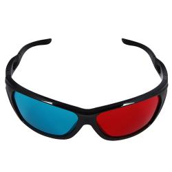 Red/Blue Plastic Three-dimensional Eyeglasses with Black Frame