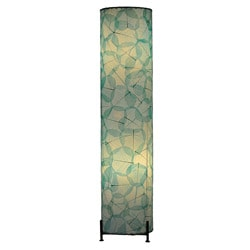Sea Blue Banyan Leaf Large Floor Lamp (Philippines)