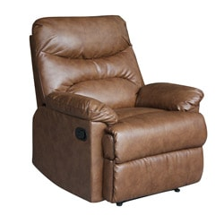 Tucker Tan Bonded Leather Recliner