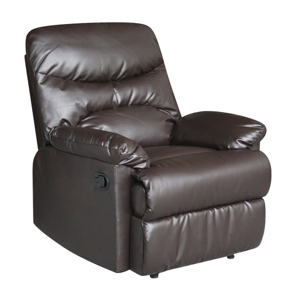 Tucker Brown Bonded Leather Recliner