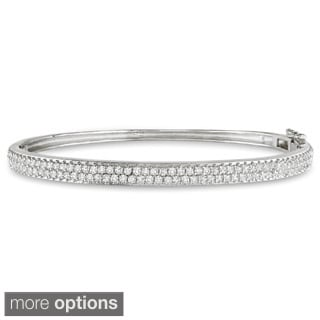 Miadora 18k Gold Over Sterling Silver 3ct TGW Cubic Zirconia Bangle