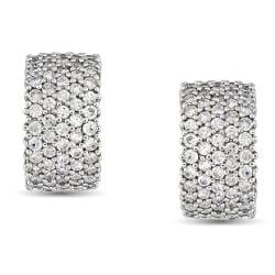 Miadora Sterling Silver 5 3/5 CT TGW Cubic Zirconia Cuff Earrings