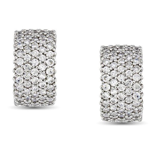 M by Miadora Sterling Silver 5 3/5 CT TGW Cubic Zirconia Cuff Earrings