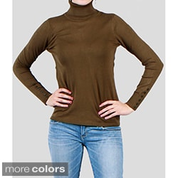 Harve Bernard Women's Long Sleeves Turtleneck Top