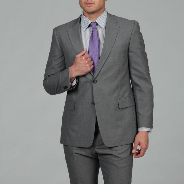 Tommy Hilfiger Men's 2-button Pearl Grey Wool Suit