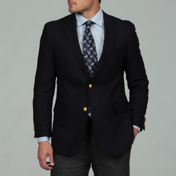 Tommy Hilfiger Men's Navy Two-button Wool Blazer