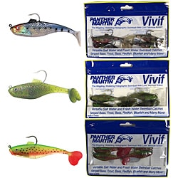 Panther Martin 12-piece Plastic Vivif Hooked Swimbait Value Kit