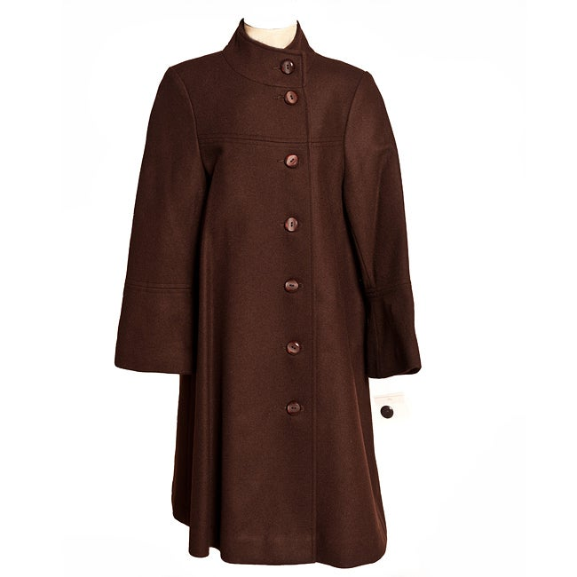 Trilogi Collection Big Girls Asymmetrical Button Coat