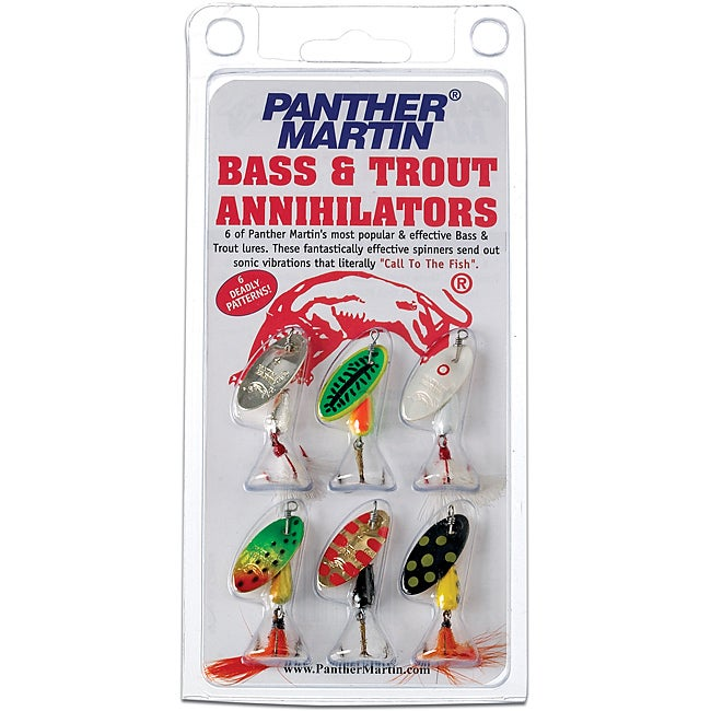 Panther martin six pack bass trout annihilator metal for Bass fishing kit