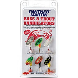 Panther Martin Six-pack Bass/Trout Annihilator Metal Fishing Lure Kit