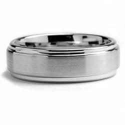 Oliveti Cobalt Chrome Men's Comfort Fit Band (7 mm)
