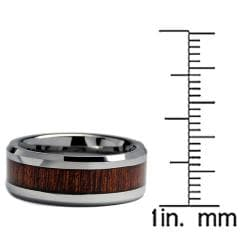 Men's Tungsten Carbide Wood Inlay Band (8 mm)