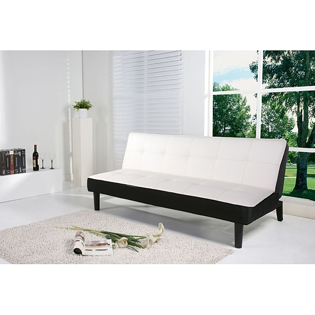 Columbus White Futon Sofa Bed at Sears.com