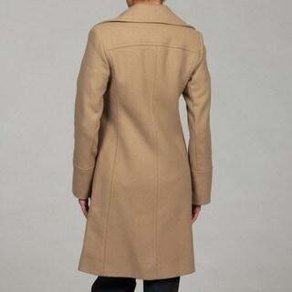 Michael Kors Women's Camel Wool-blend Walking Coat FINAL SALE