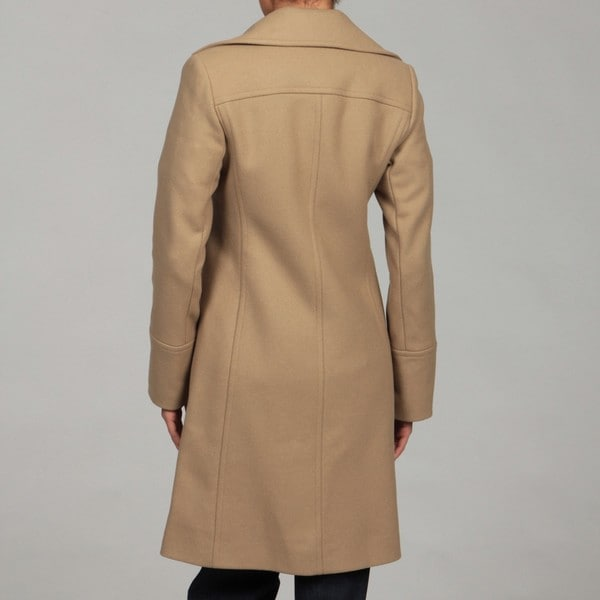 Michael Kors Women's Camel Wool-blend Walking Coat FINAL SALE