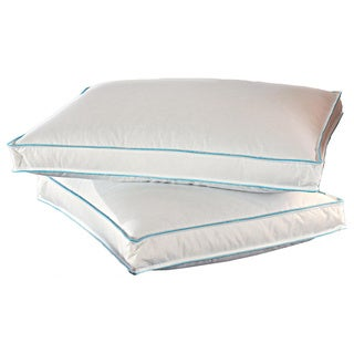 Famous Maker Enhanced 2-inch Gusseted Down and Feather Triple Chamber Pillows (Set of 2)